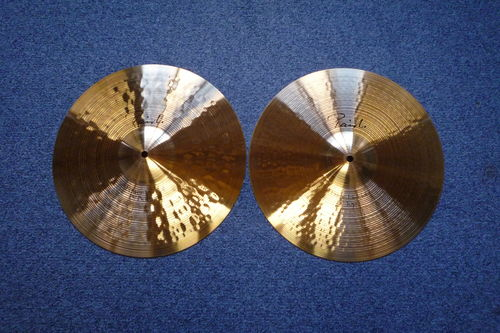 "15"" Paiste Signature Power Hi-Hat cymbals set from 1992"