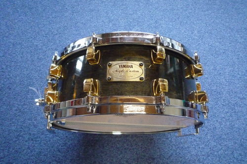 "Yamaha Maple Custom snare drum 14"" x 5,5"" msd-0105 Black Maple"