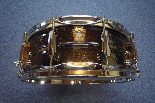 "Ludwig Black Beauty 14"" x 5"" Brass Shell Snare Drums LB416K used"