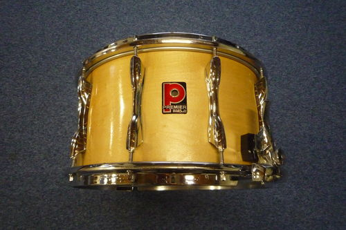 "Premier 2005 Birch snare drum 14"" x 8"", 2002 parallel throw system"