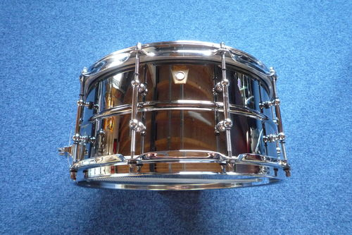 Ludwig Black Beauty Brass Shell Snare Drums LB417T, as new