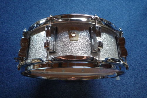 "Ludwig Classic Maple 14""x 5"" snare drum, silver sparkle finish"