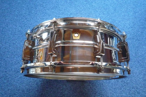 "1967 Ludwig L400 Supraphonic 14"" x 5""  snare drum, excellent!"