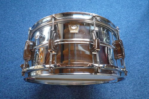 "Ludwig LM402 Supraphonic Chrome Plated Aluminum 14"" x 6,5"", early Monroe"