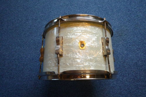 "1965 Ludwig Club Date Tom 12"" x 8"", white marine pearl finish"