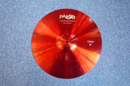 "16"" Paiste Color Sound 5 Crash red, 987 grams from 1985"