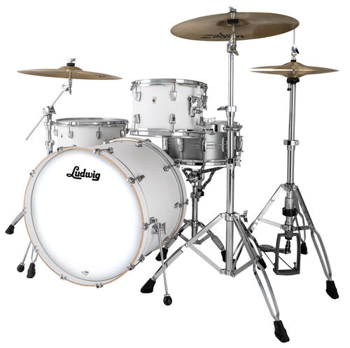 "Ludwig NeuSonic 3-piece Shell Pack - 20""-12""-14"" - Aspen White, L24023TX3T"