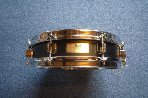 "Pearl Piccolo black steel snare drum 13"" x 3"" S1330"