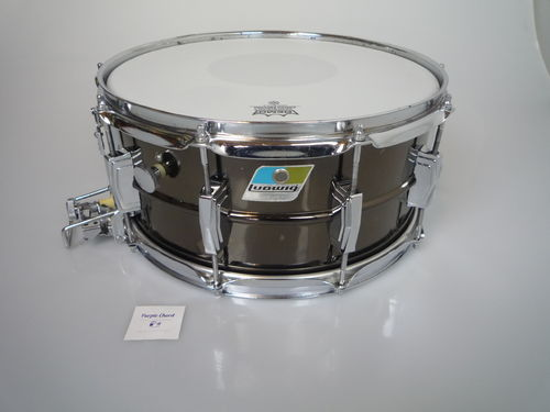 "1977-1979 Ludwig Black Beauty SuperSensitive snare 14"" x 6,5"", brass shell"