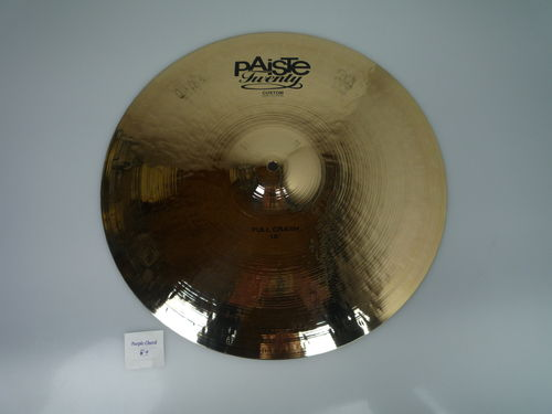 "18"" Paiste Twenty Custom Full Crash, 1563 grams, NOS"