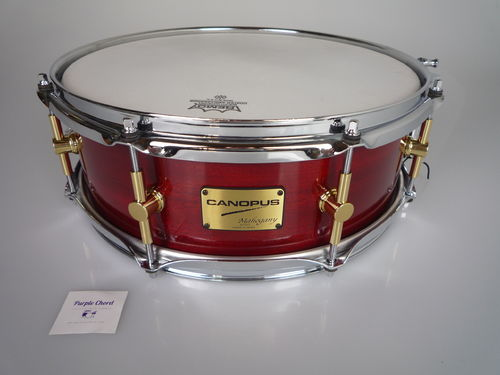 "Canopus Mahogany series Snare Drum MH-1455 model, 14"" x 5,5"""