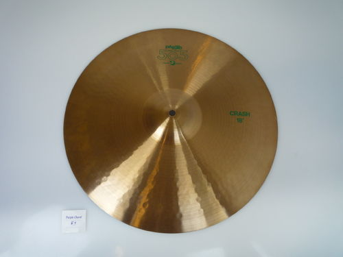 "18"" Paiste 505 Medium green logo 1413 grams, from 1986"