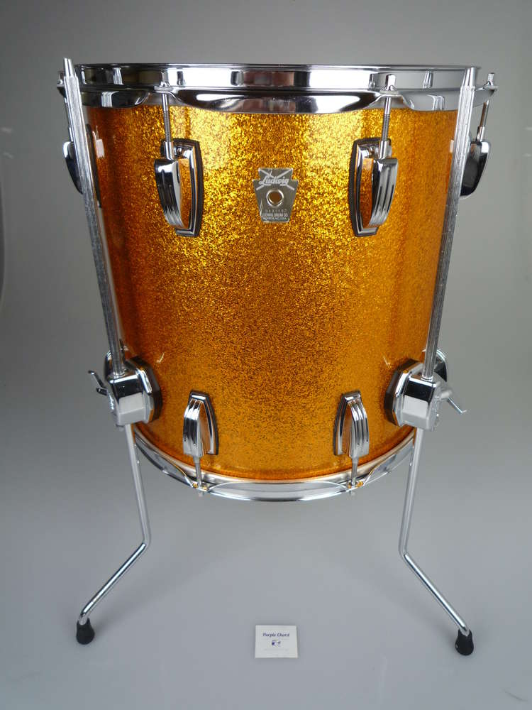 Ludwig Classic Maple 14 X 14 Floor Tom Gold Sparkle From 2006