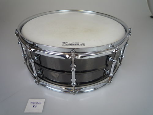 "Black Metal snare drum 14"" x 5,5"", tube lugs, no brand"