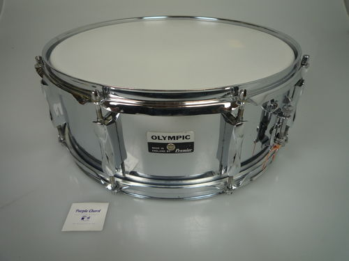 "Olympic Metal snare drum 14"" x 5"", made in England"