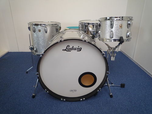 "Ludwig Classic Maple 3- Piece Shell Pack, 24""-12""-16"", silver sparkle"