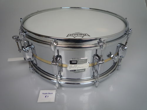 "Hollywood Meazzi President Metal Tone snare drum 14"" x 5,5"", metal shell with brass strip"