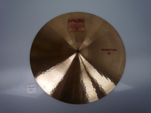 "18"" Paiste 2002 Paper Thin Crash red logo, 1113 grams from 2006"