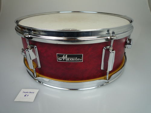 "Maxwin by Pearl snare drum 14"" x 5,5"", red vinyl leather finish"