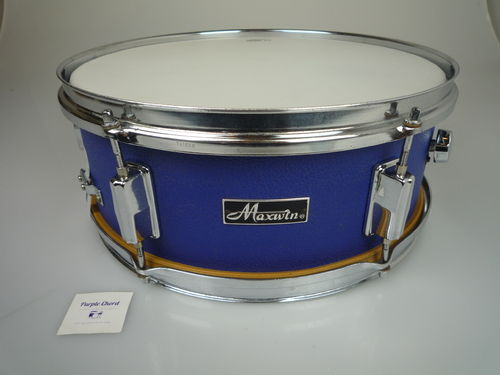 "Maxwin by Pearl snare drum 14"" x 5,5"", blue vinyl leather finish"