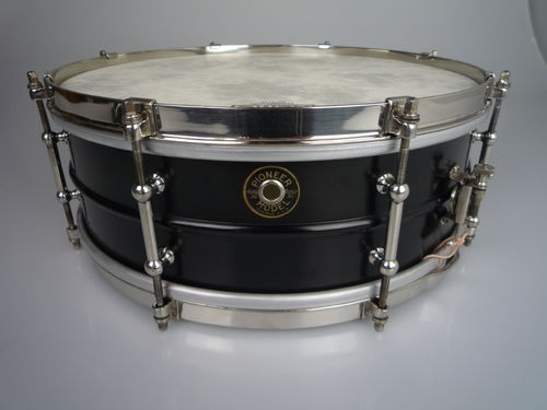 "Ludwig Pioneer brass nickel shell 14' x 5"" snare drum, from 1928-1940"