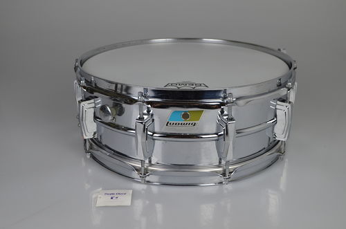 "1971 Ludwig L400 Supraphonic 14"" x 5"" snare drum Blue Olive badge"