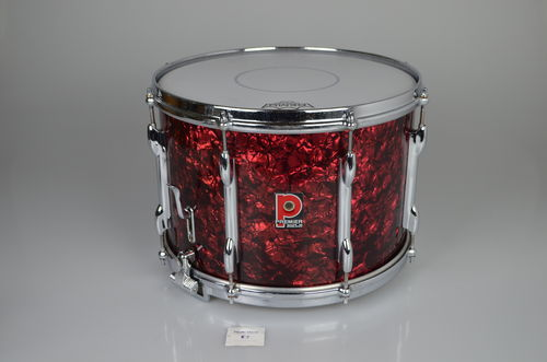 "Premier snare drum 14"" x 10"", red diamond, from 1970's"