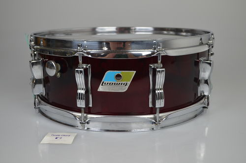 "Ludwig Red Vistalite snare drum 14"" x 5"", from 1976"