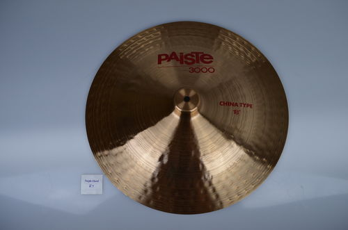 "18"" Paiste 3000 China Type, 1273 grams from 1986"
