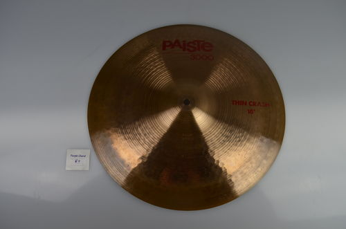 "16"" Paiste 3000 Thin Crash, 1043 grams from 1988"