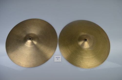 "15"" Zildjian Avedis Hi-Hat cymbals set, 1616 - 1182 grams from 1970's"