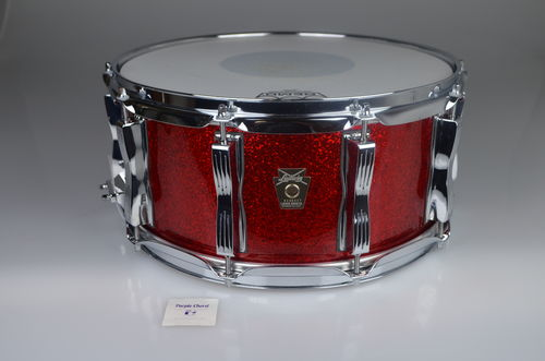 "Ludwig Classic Maple Red Sparkle snare 14""x 6,5"""