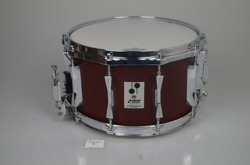 "Sonor Phonic Plus D518x MR snare drum 14"" x 8"", Red Mahogany from 1989"