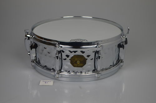 "Gretsch G4160HB Chrome over Brass COB Hammered shell, snare drum 14"" x 5"""