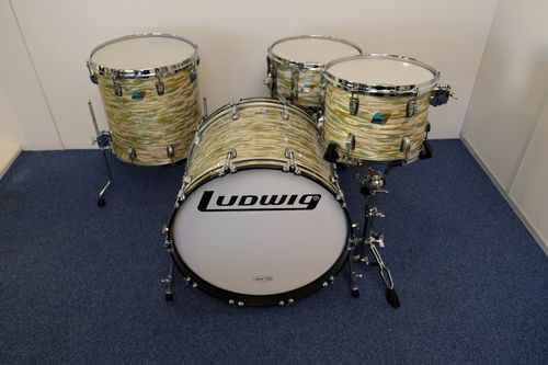 "Ludwig Classic Maple drumset Blue Olive Oyster Pearl 22""-13""-16""- snare, NOS"