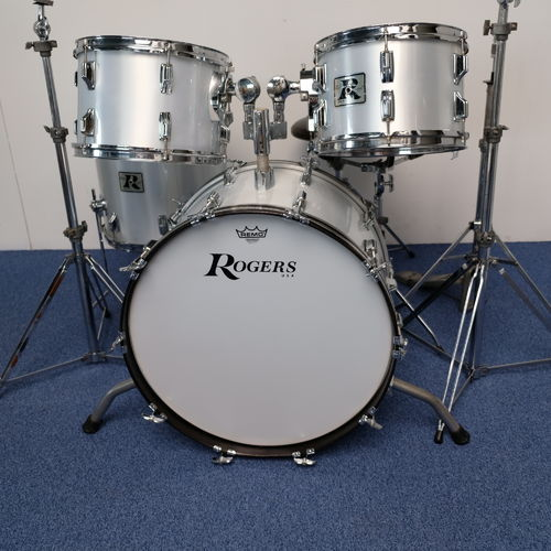 "Rogers Londoner Grey Silk Drumset 22""-12""-13""-16"" from 1970's"