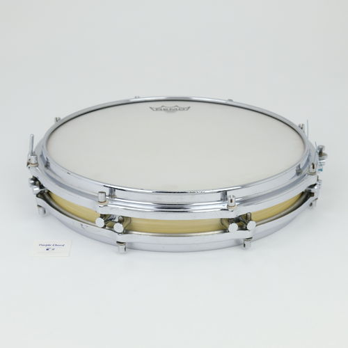 "1960's Sonor Pancake Snare Drum, 14"" x 2,5""  white marble finish"