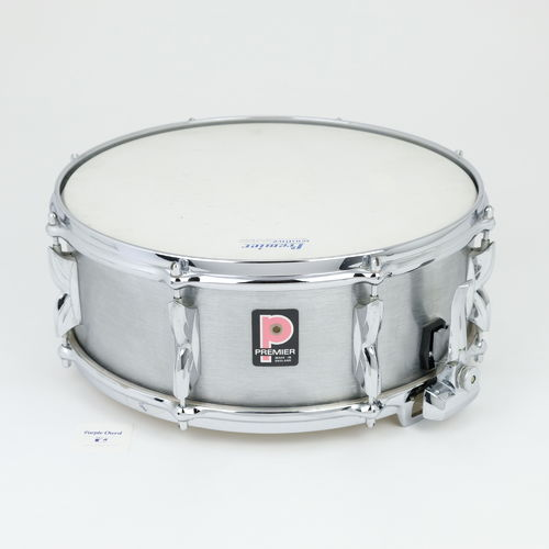 "Premier 2000 Brushed Aluminium Snare Drum 14""x 5,5"" from 1970's"