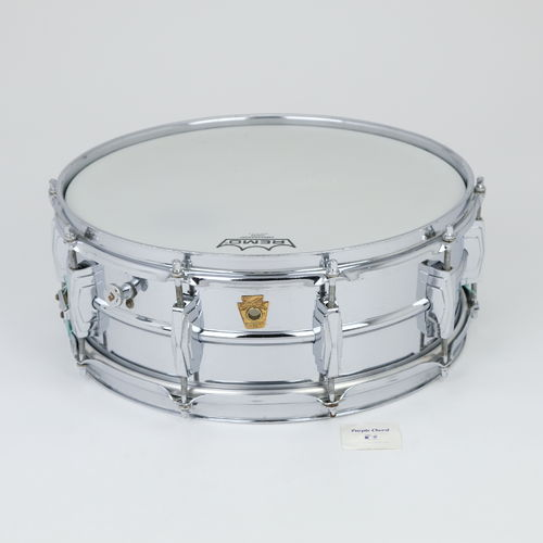 "1960-62 COB Super Ludwig Supraphonic 14"" x 5""  snare drum, brass shell"
