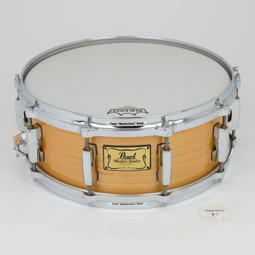 "Pearl Masters Studio Birch Shell 14"" x 5,5"" snare drum, natural wood finish"