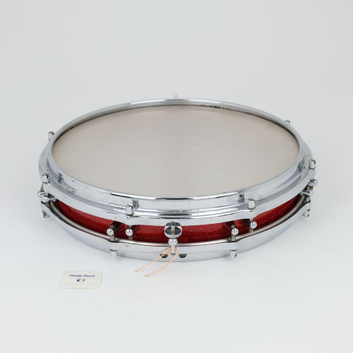 "1960's Sonor Pancake Snare Drum, 14"" x 2,5""  red sparkle finish"