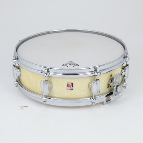 "Premier Royal Ace Piccolo snare drum 14"" x 4"" white marine pearl late 1950's"