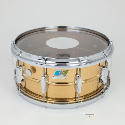 "Ludwig LB552 Bronze Supraphonic 14"" x 6,5"" snare drum from 1980's, Twin Channel hoops"