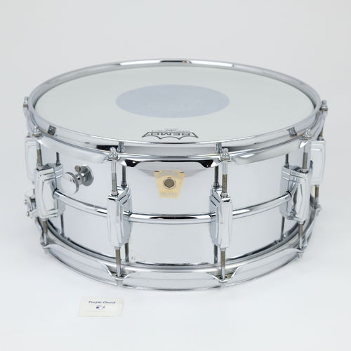 "Ludwig LM402 Supraphonic 14"" x 6,5"" snare drum, internal damper, early Monroe"