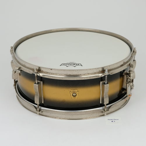 "1964 Ludwig Pioneer 5"" x 14"" Duco Black-Gold, nickel hardware, 3-ply shell"