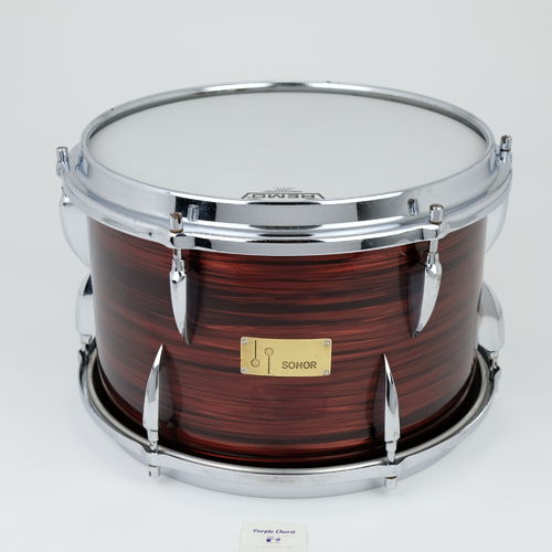 "Sonor Teardrop tom 13"" x 9"", from 1960's red marble"