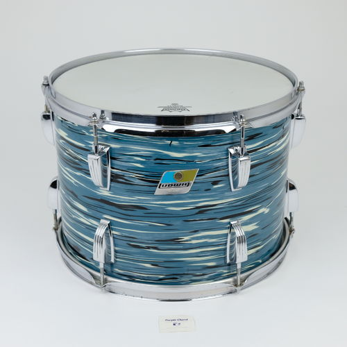 "1976 Ludwig Tom 14"" x 10"" Oyster Blue Bowling ball finish"