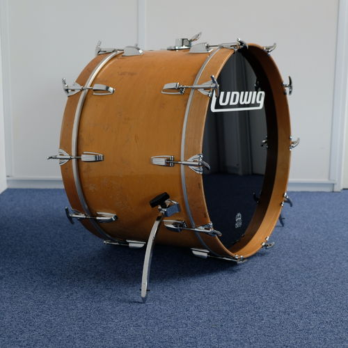 "1980's Ludwig Bass Drum 22"" x 14"" natural maple 6-ply"