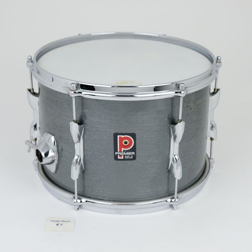 "1970's Premier 12"" x 8"" Tom, grey shimmer finish, mahogany shell"