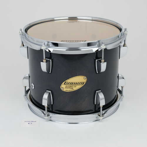 "Ludwig Accent CS Custom 10"" x 8"" tom, black finish"